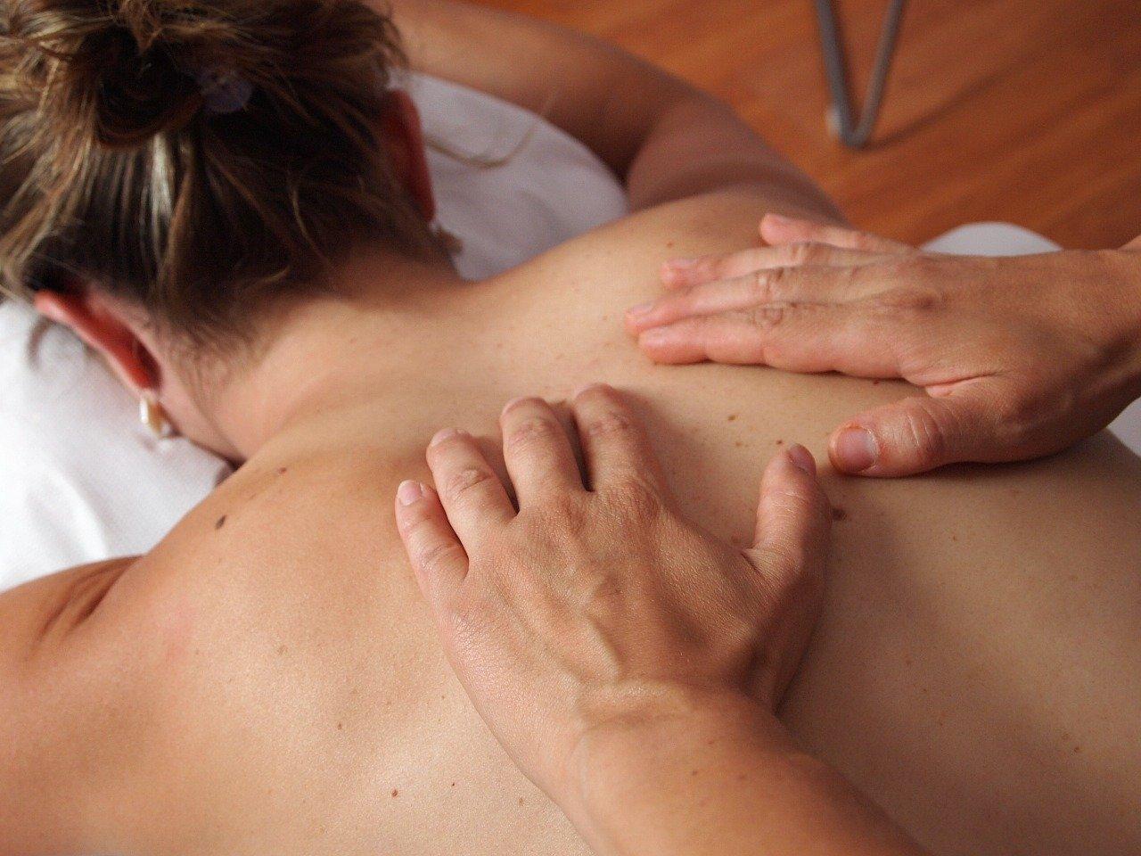 woman, hands, massage